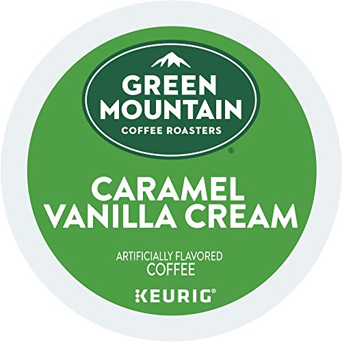 Green Mountain Coffee Roasters Caramel Vanilla Cream, Single Serve Coffee K-Cup Pod, Flavored Coffee