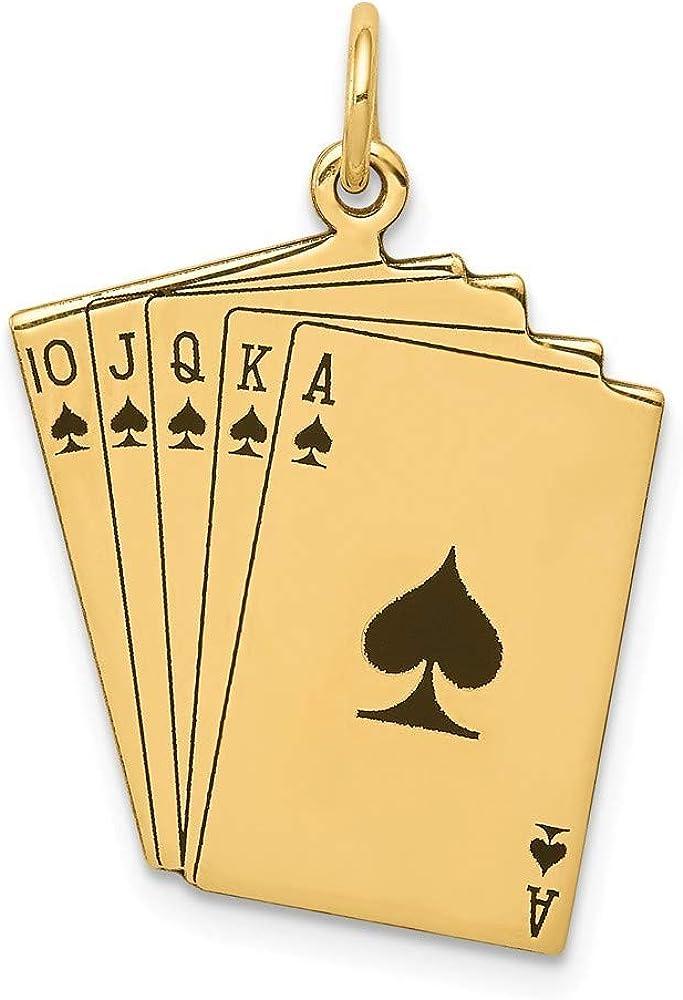 Roy Rose Jewelry 14K Yellow Gold Playing Ranking TOP8 Kansas City Mall Royal Enameled Ca Flush