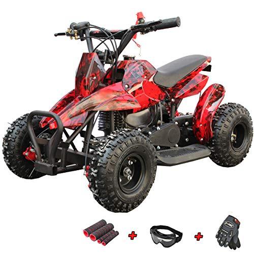 X-PRO 40cc Kids ATV 4 Wheelers 40cc ATV Quads Kids Quad (Hot Rod Flame)