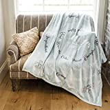 1i4 Group Mom's Time Out Velvet Luxury Throw Blanket 50x60 Soft Sentiments Teal
