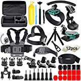 61 in 1 Action Camera Accessories Kit for GoPro Hero 8 7 6 5 4 Hero Session 5 Black SJ4000 5000 6000 Xiaomi Yi AKASO Campark Action Camera…