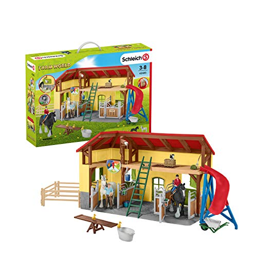 Schleich Farm World Playset Écurie, 42485, Multicolore