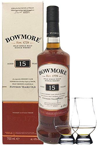 Bowmore 15 Jahre 0,7 Liter+ 2 Glencairn Gläser