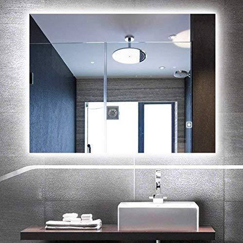 Trico-op Vertical or Horizontal LED Lighted Vanity Bathroom Silvered Mirror with Touch -