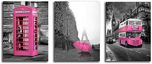 Best black and hot pink wall art Reviews