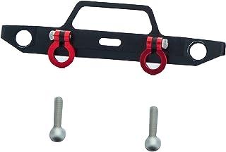 Front Metal Bumper Aluminum Bumper Upgrade Parts for Axial SCX24 90081 1/24 RC Crawler Car Spare Part Accessories - Black