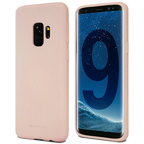 Goospery Soft Feeling Jelly for Samsung Galaxy S9 Case (2018) Silky Slim Bumper Cover (Pink Sand) S9-SFJEL-PSND