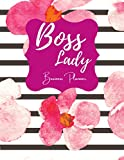 Lady Boss Business Planner: Large 8.5 x 11 in size unplanned business planner for women, weekly/daily diary, to do list, business goals, calendar ideal for small business owners