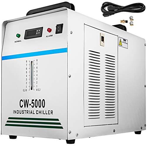 BananaB 8.5L Industrieller Wasserkühler 800W Wasserkühlung Water Chiller Wasser Kühler Industrial Water Cooler Chiller for CNC Engraving Machines (CW-5000)