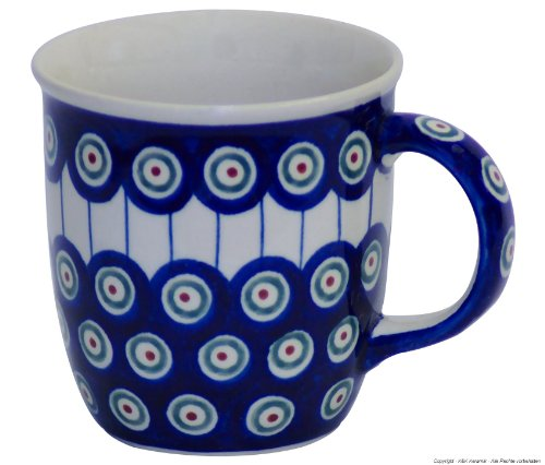 Original Bunzlauer Keramik Becher V=0,35 Liter im Dekor 8