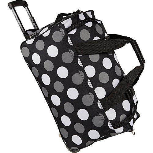 Rockland Rolling Duffel Bag, New Black Dot, 22-Inch