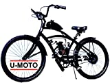 2-STROKE 66cc/80cc MOTORIZED BIKE KIT WITH 26' CRUISER BIKE DIY MOTOR BIKE SYSTEM