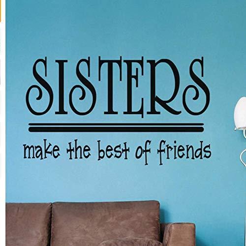 Maak de Beste van Vrienden DIY Er voor Kinderen Kamers Slaapbank Decoratie Art Decals Prinses Decor Vinyl Muurstickers 58 * 34Cm