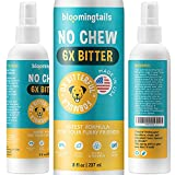 No Chew Spray for Dogs - The Natural Bitter Anti Chew Remedy for Training Puppies, Dogs and Cats - No Stain, Safe, Alcohol Free Pet Corrector Spray Deterrent to Prevent Chewing on Furniture - 8 Oz.