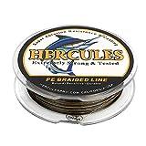 Hercules Sedal Trenzado de 8 Hilos, 100-2000 m, 10-300 LB, Súper Suave, Polietileno, Multifilamento Hilo Trenzado de Pescar en el mar y en el Agua