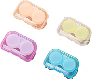 4 Sets Portable Contact Lenses Case Holder Storage Box Container(Color by random)