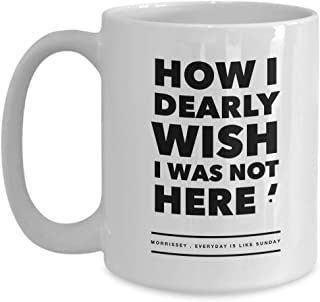 Morrissey Mug - The Smith Inspired Member - Johny Marr Andy Rourke Mike Joyce Pop Culture Gift - White Ceramic Tea Cup Coffee Mugs 15 Oz