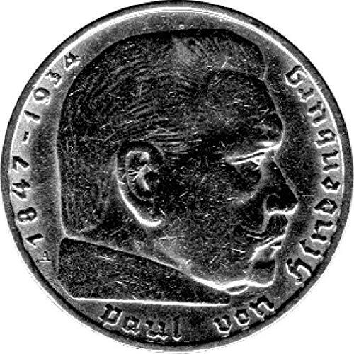 Münze 2 Reichsmark Deutschland, 1937 A, Hindenburg (Jäger: 366) Vorzüglich