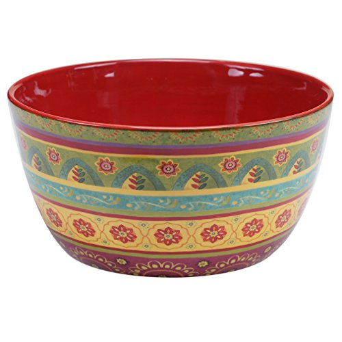Certified International 22462 Tunisian Sunset Deep Bowl, 11' x 5.5', Multicolor