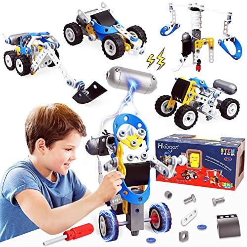 HOOGAR STEM Konstruktionsspielzeug für Kinder, Bausteine Spielzeug ab 5 6 7 8 9 10 Jungen und Mädchen