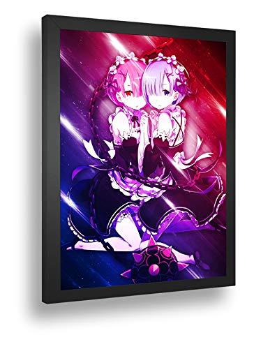 Quadro Decorativo Poste Re Zero Loli Anime Classico
