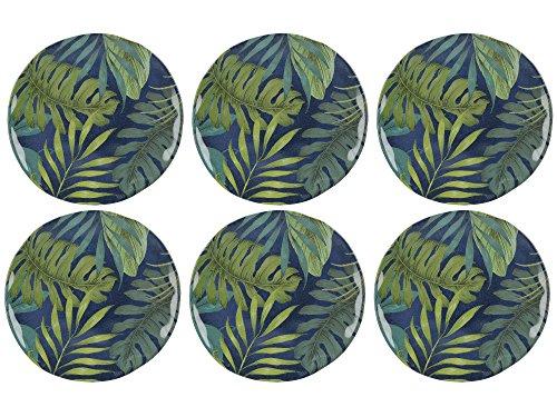 MIKASA Drift - Juego de 6 platos de melamina extrafuertes (23 cm)