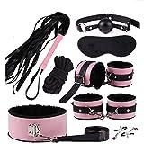 E-DIDI Nuevo cuero y nylon felpa yoga deportes traje de decoración auxiliar, equipado con varias bolsas de juguete juego (rosa)-A61