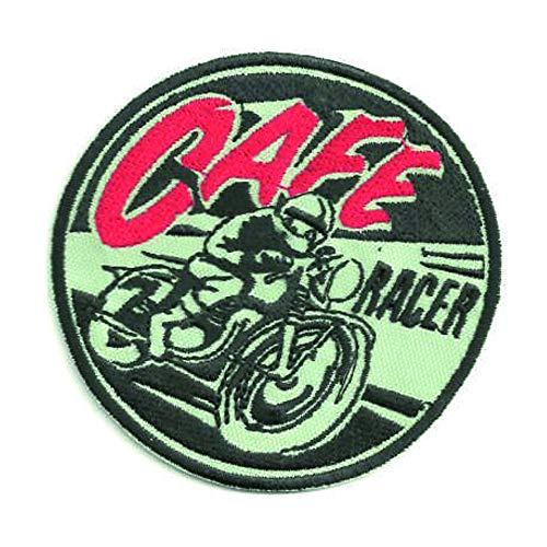 losparches Parche bordado termoadhesivo CAFE RACER MOTO 4,5cm x 4,5cm