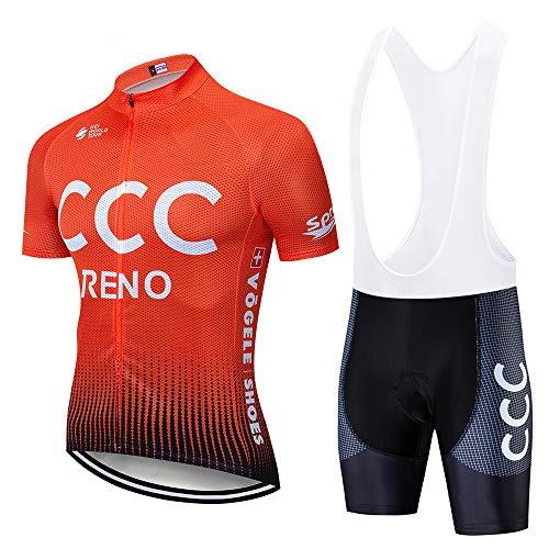 Costumi da Ciclismo per Uomini, Completo Ciclismo Estivo Maglia Ciclismo Maniche Corte Squadra