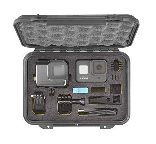 Max Cases MAX002GOPRO - Soporte para cámara GoPro con Interior de Esponja contorneada para Transportar y Proteger cámaras GoPro, Dimensiones internas 212 x 140 x 47 mm