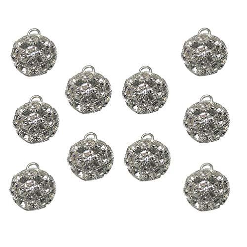 ABOOFAN 10 Piezas de Botones de Diamantes de Imitación de Cristal Botones de Costura DIY Botones Artesanales 17Mm
