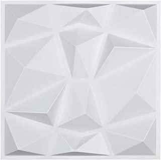 Art3d Decorative 3D Wall Panels in Diamond Design, 12
