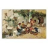 VVBGL Joaquin Sorolla vendiendo Melones Lienzo Arte Pintura al óleo Obra de Arte Poster Arte de la P...