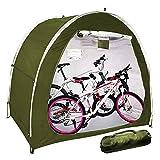 EEUK Carpa para Bicicletas Exterior, Guarda Bicis Exterio, Portátil, Plegable, Que Ahorra Espacio, Impermeable Resistente A La Intemperie(Color:Verde)