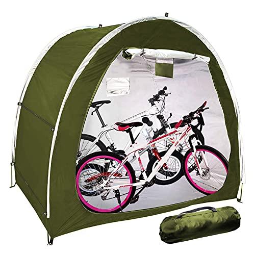 EEUK Guarda Bicis Exterior, Almacenamiento de Bicicletas, Que Ahorra Espacio para Camping...