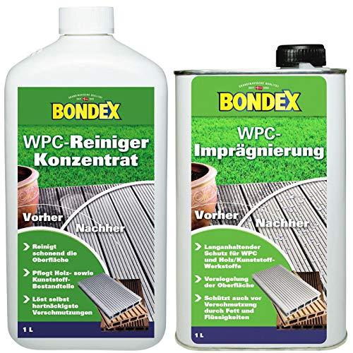 Gardopia Sparpaket: Bondex WPC Reiniger 1 Liter + WPC Imprägnierer 1 Liter