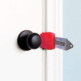 Portable Door Lock, Alamic Travel Door Lock, Hotel Door Lock School Lockdown Lock Safety Lock for Travel, Home, Apartment Living, Hotel, Dorm - 1 Pack
