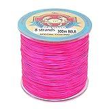 Daoud línea de pesca trenzada de 8 hilos SuperPower 300M (327 yardas) Línea de pesca trenzada Línea de pesca trenzada avanzada Superline, rosa