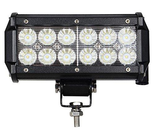 Greenmigo 36W Led Arbeitsscheinwerfer Offroad Lampe Flood Scheinwerfer LED Arbeitslicht Light Bar 12V 24V Zusatzscheinwerfer Rückfahrscheinwerfer für Traktor Bagger SUV - 60 Grad Wasserdicht IP67 3200LM