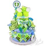MomsStory – Tarta de pañales, regalo para nacimiento, bautismo, ducha de...
