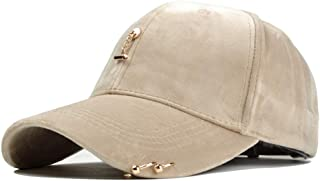 Hats and Caps Cashmere Hat for Women Korean Version of The Trend of Wild Sweet Cute Hoop Baseball Cap Autumn and Winter Hat (Color : Beige, Size : 56-60CM)