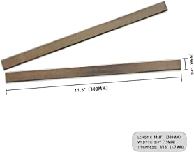 OSCARBIDE Planer Blades for Delta 22-540 TP300 22-547 Planers, HSS Planer Knives Reversible Replacement 2 edges Cutting Tools 300 x 19 x 1.7mm(11-13/16