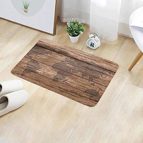 OPLJ Teppich Inneneingang Fußmatte Bodenteppiche Saugfähige Badezimmer-Badematte Anti-Rutsch-Küchenteppich für Wohnaccessoires A1 40x60cm