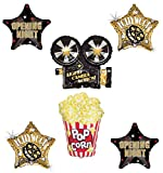 Suministros de fiesta de noche de película, globo, ramo de decoraciones, luces de óscaros de Hollywood, cámara, acción