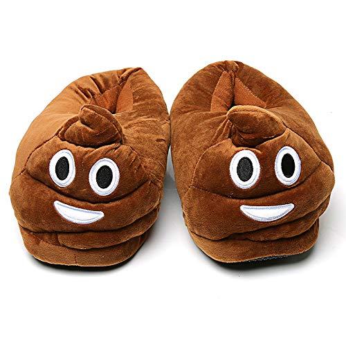 Hausschuhe Slipper Pantoffeln Damenwinter Hausschuhe Männer Schuhe Warm Soft Indoor Hausschuhe Männer Plüsch Schuhe Cute Funny Poop Home Wohnungen rutschfeste Raumrutschen Paar 45 Kaffee