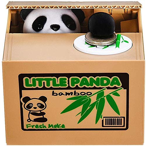 Piggy Bank Mischief Automatic Stealing Money Bank Saving Box Panda Coins Bank Cents Great Christmas/Birthday for Kids(Panda)