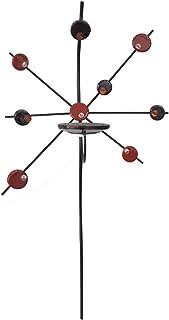 Hogar y Mas Aplique Porta-Velas Pared de Cerámica, Decoración Colgante. Porta Velas Decorativo Artesanal 82x51 cm - Rojo