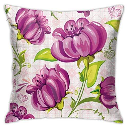 Lawenp Er Purple Pink Throw Pillow Covers 18x18 Pulgadas Throw Pillowcase Funda de cojín para el hogar
