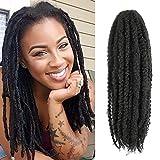 Callia Marley Hair For Twists 6 Packs Marley braiding Hair 18' Afro Kinky Marley Twist Braid Hair Extensions (18Inch, 1B)