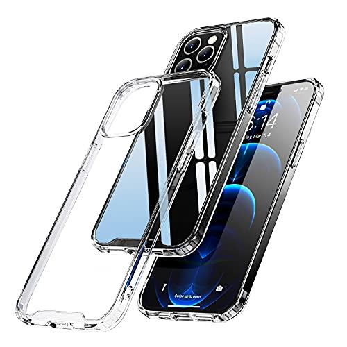 Eiaisi Kompatibel mit iPhone 12 Hülle/iPhone 12 Pro Hülle, Schlanke Weiche, Silikon Transparente Hülle,Stoßfeste & Kratzfeste Schutzhülle, Geeignet für iPhone 12/iPhone 12 Pro 6.1 Zoll (Transparent)